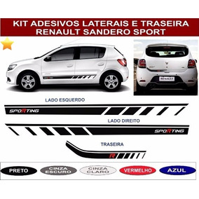 Acessorios Renault Sandero Adesivo Lateral E Traseiro Kit