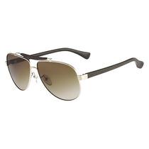 Óculos De Sol Aviador Calvin Klein Ckj 1186s Dourado Oferta