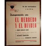 Cartel De Cartulina Inauguracion Teatro San Telmo 1959