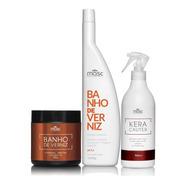Kit Hidratação Shampoo Máscara + Queratina Líquida + Brinde