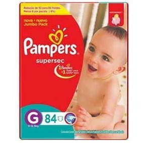 Fraldas Pampers Supersec Jumbo Bag G/grande - 168 Unidades