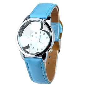 Reloj Pulsera Disney Mickey Mouse Azul Mujer Envío Gratis