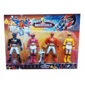 Juguete Set Power Rangers 4 Figuras Muñecos 17cm