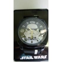 Relogio Pulso Analogico Star Wars Storm Trooper Com Caixa