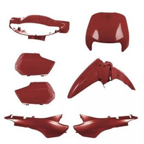 Kit Tampas+carenagem Completo Biz 100 Vermelho 2002/2003