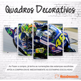 Quadro Decorativo Moto Gp Piloto The Doctor 46 2,0x1,0m 5g