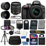Camara Nikon D3300 Digital Slr +3 Lentes Kit 18-55mm + Extra
