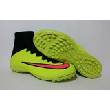 Chuteira Nike Mercurial Society Cano Alto Botinha Cr7 Neymar