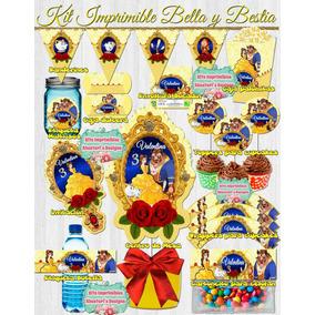 Kit Imprimible Editable Bella Y Bestia
