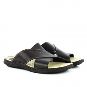 Chinelo Pegada 131261-04 Masculino Em Couro - Coutope