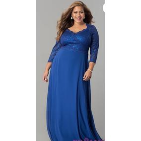 Vestidos de fiesta azul electrico largos