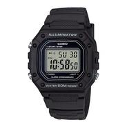 Reloj Hombre Casio W-218h-1av Negro Iluminator / Lhua Store