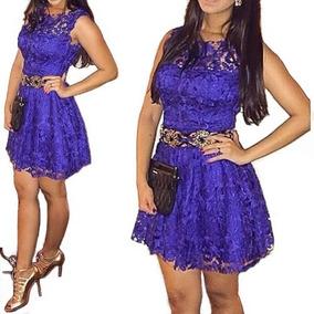 Vestido Renda Azul Pronta Entrega !! Festa Casamento #22