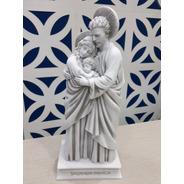 Sagrada Família Em Pé De 28cm Feita Em Mármore