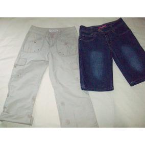 Pantalon Aeropostale Y Bermuda De Mezclilla Talla 14 De Niña