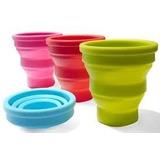Vaso De Silicona Plegable - Portatil. Varios Colores