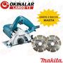 Serra Marmore 4100nh3zx2 Original Makita 220v 1300w 2 Discos