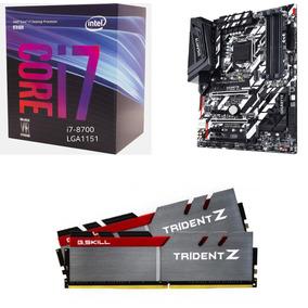 Combo Actualizacion Intel I7 8700 Gigabyte Z370xp 16gb Ddr4