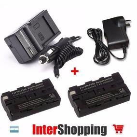 Cargador +2 Baterias Sony Np-f530 Np-f550 P/ Iluminador Led