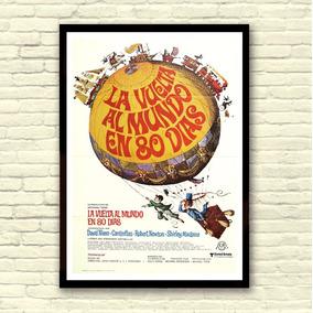 Antigo Poster Cartaz Filme - Volta Ao Mundo Em 80 Dias, 1977