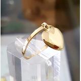 Anel Pingente Coração Ouro 18k-750