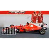 Sebastian Vettel 2017 Ferrari Sf70h Burago En Escala 1/18