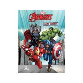 Livro Vingadores - Ler E Colorir Médio - Culturama