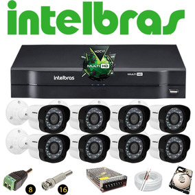 Kit Dvr Intelbras Mhdx Multihd 8 Câmeras Vm 1120 Hd 320 Gb
