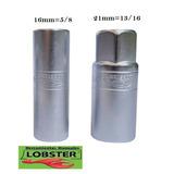 Dados 16mm Y 21m (par) Sacar Bujias Profesional Lobster