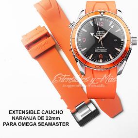 Extensible De Caucho Naranja De 22mm Para Omega Seamaster
