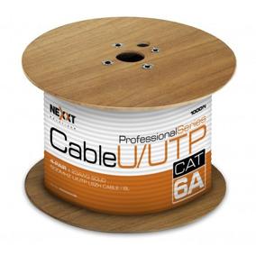Bobina De Cable U/utp Nexxt Cat6a 305m/1000ft Azul