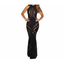 Vestido Largo Con Transparencias Na-1329