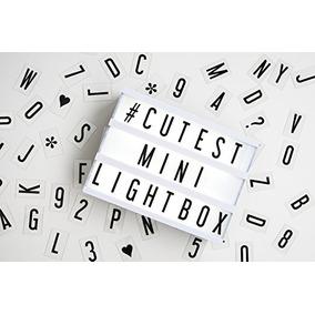 Mi Mini Cine Mesa De Luz - Led Con 100 Letras, Números Y Car