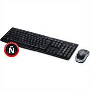 Combo Inalámbrico Teclado Multimedia Y Mouse, Logitech Mk270