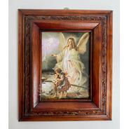 Cuadro Angel De La Guarda C0003 Nogal