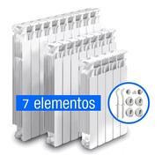 Radiador Caldaia  7 Elementos Con Kit Instalación Gratis