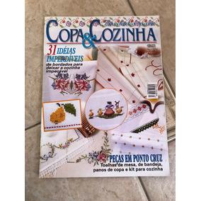 Revista Copa E Cozinha 3 Bordados Ponto Cruz Toalhas Kits