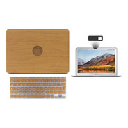 Kit Carcasa Case Tono Madera 3 En 1 Macbook Air Pro Touch
