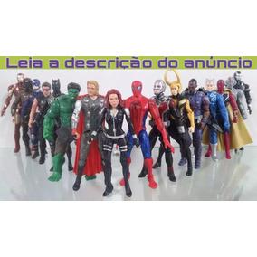 Kit 15 Bonecos 15 Cm Os Vingadores Marvel Liga Da Justiça