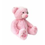 Peluches Osos Grande 50cm Sentado Nena Rosa Punto Bebe