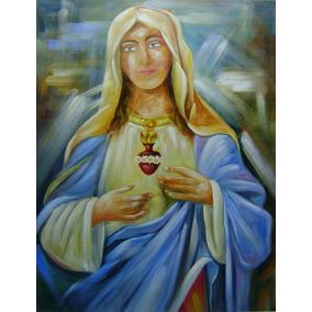 Quadro Sagrado Coração De Maria !lindo!!70x90!pronta Entrega