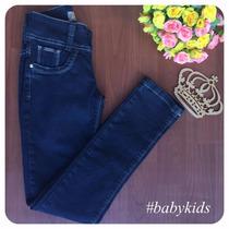 Calça Infantil Jeans Feminina Tamanho 10