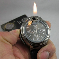 Reloj Encendedor 2 En 1 Flama De Butano