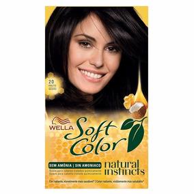 Tinta Para Cabelo Wella Soft Color Sem Amônia 20 Preto Negro