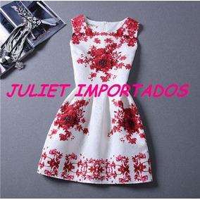 Vestido Infantil Menina Branco Vermelho Importado 9 10 Anos