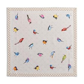 Maison D Hermine Birdies On Wire 100% Cotton Set Of 4 Napkin