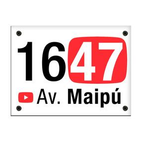 Placa De Dirección Numeración Calle Youtube Youtubers Givan