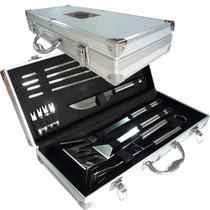 Set Asado 12 Pzas Aluminio Parrilla Asador Importado Regalo