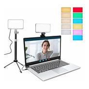 Iluminación De Videoconferencia Con Trípode Ajustable Y Clip