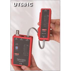 Probador De Cables 3 En 1 Rj45, Rj11 Y Bnc Modelo Ut681c